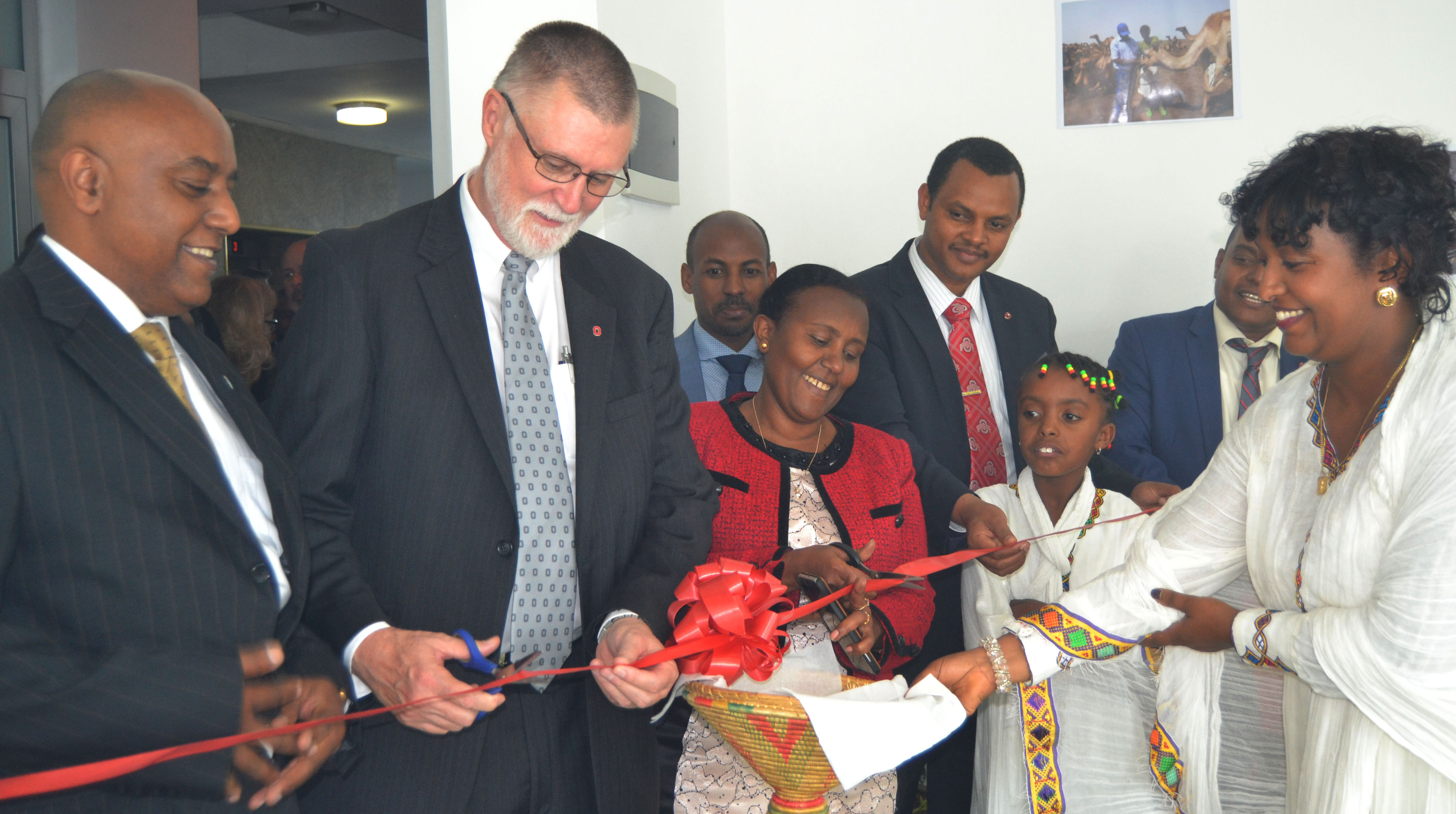 Ribbon cutting at Global One Health office in Addis Ababa